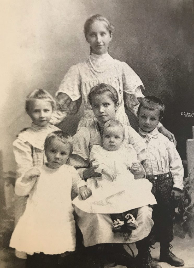 Kate Dani raised 6 children of her own and 3 of her sisters Albert on right