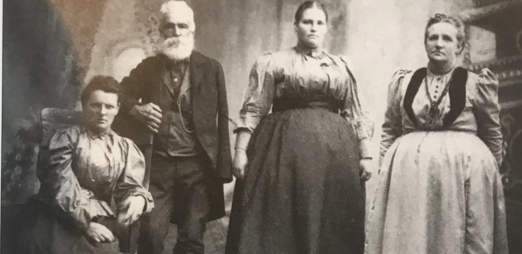 Dani Family c. 1900 seated Mary Elizabeth, father Gabriel 1832-1908, sister Lucia and mother Elizabeth
