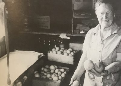Lucia Lodge Operator Lulu May Harlan pear harvest August 1961 Postmaster 1915-1932