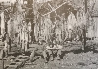 Krenkel Ranch Animal Fur Trapping c. 1926