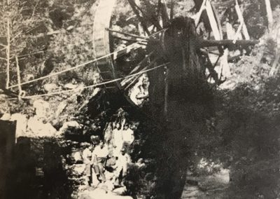 Grizzly Mine Waterwheel Arrastra c. 1900