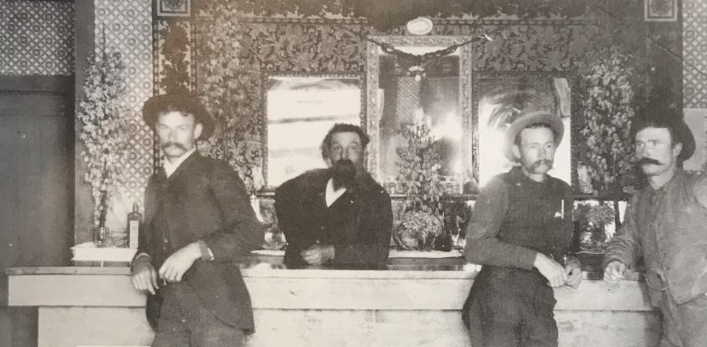 Davis Saloon at Los Burros Mine Town of Manchester c. 1889